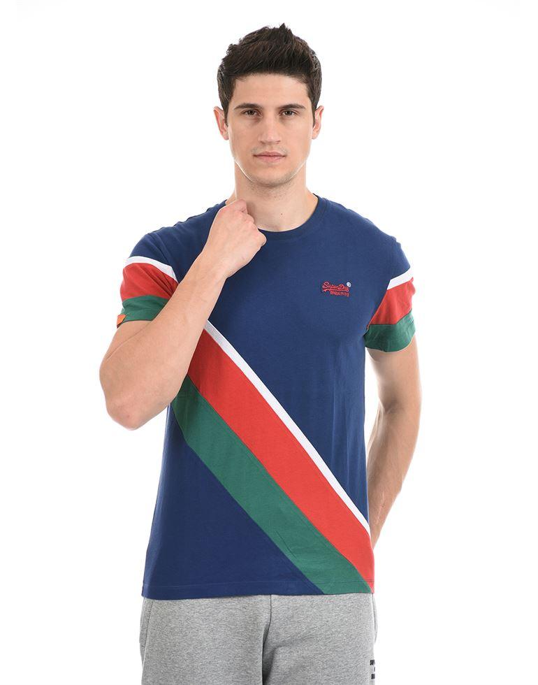 Super Dry Men Casual Wear Multicolor T-Shirt