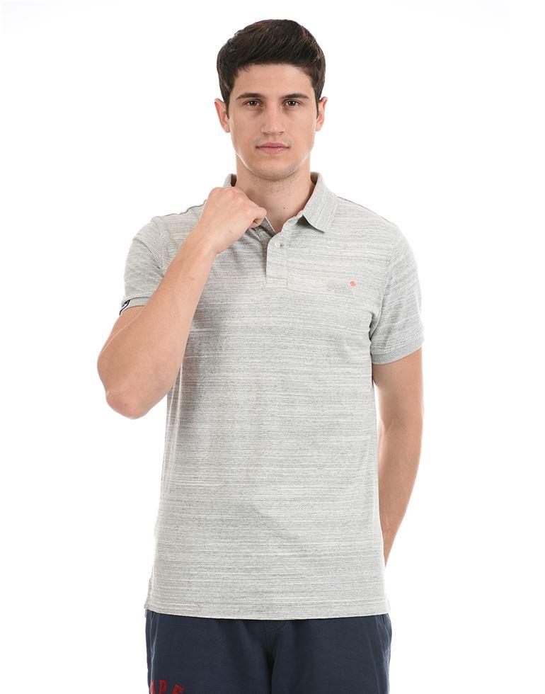 Super Dry Men Casual Wear Grey T-Shirt