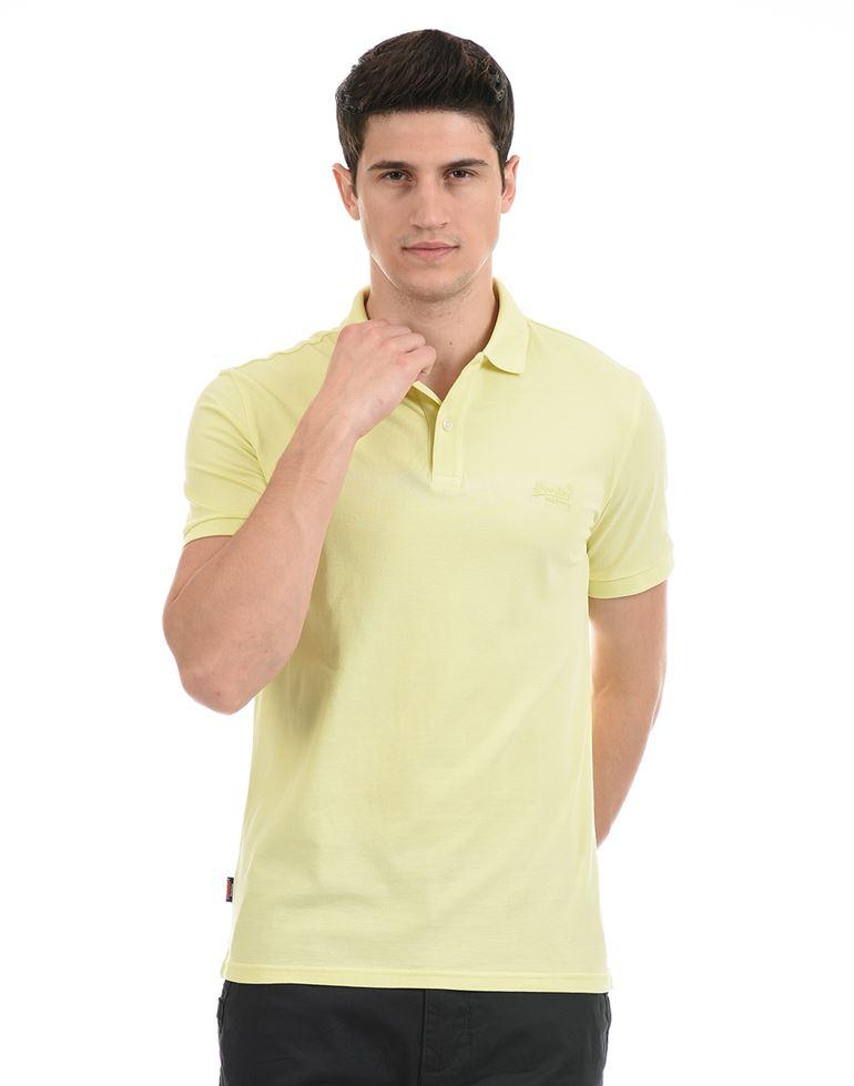 Super Dry Men Casual Wear Yellow T-Shirt