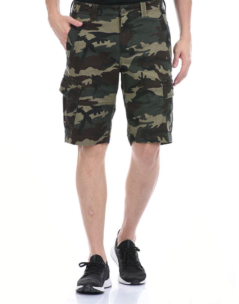 Super Dry Men Casual Wear Dark Green Cargo Shorts