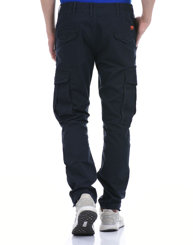 Super Dry Men Casual Wear Navy Blue Cargo Pant