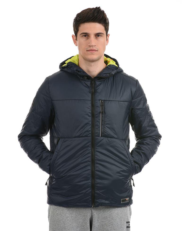 Super Dry Men Casual Wear Navy Blue Jacket