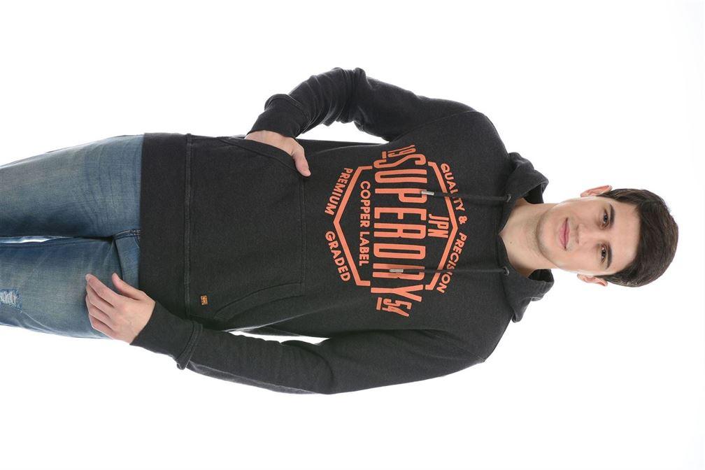 Super Dry Men Casual Wear Dark Grey Sweatshirt