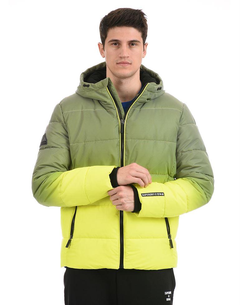 Super Dry Men Casual Wear Green Jacket