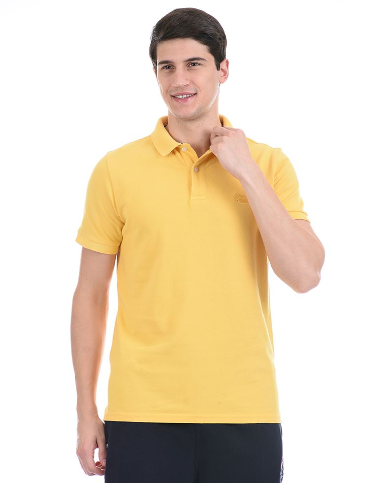 Super Dry Men Casual Wear Yellow Polo T-Shirt
