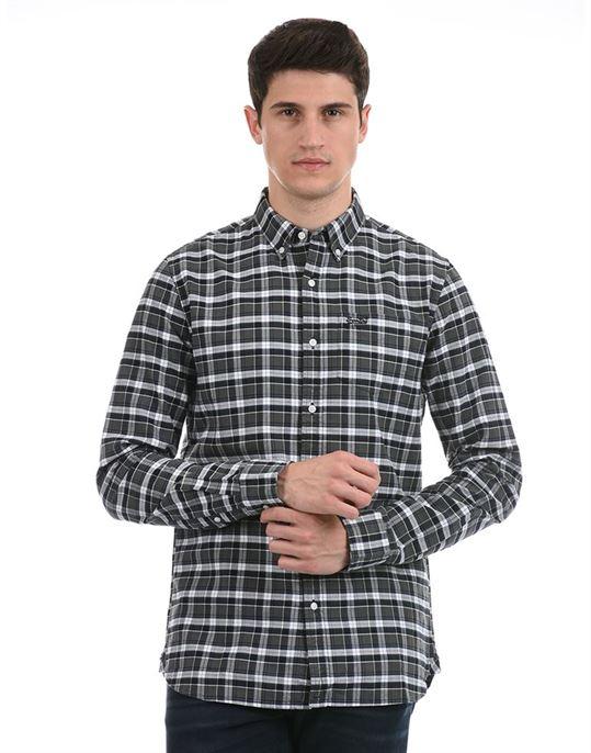 Super Dry Men Casual Wear Dark Grey Shirt