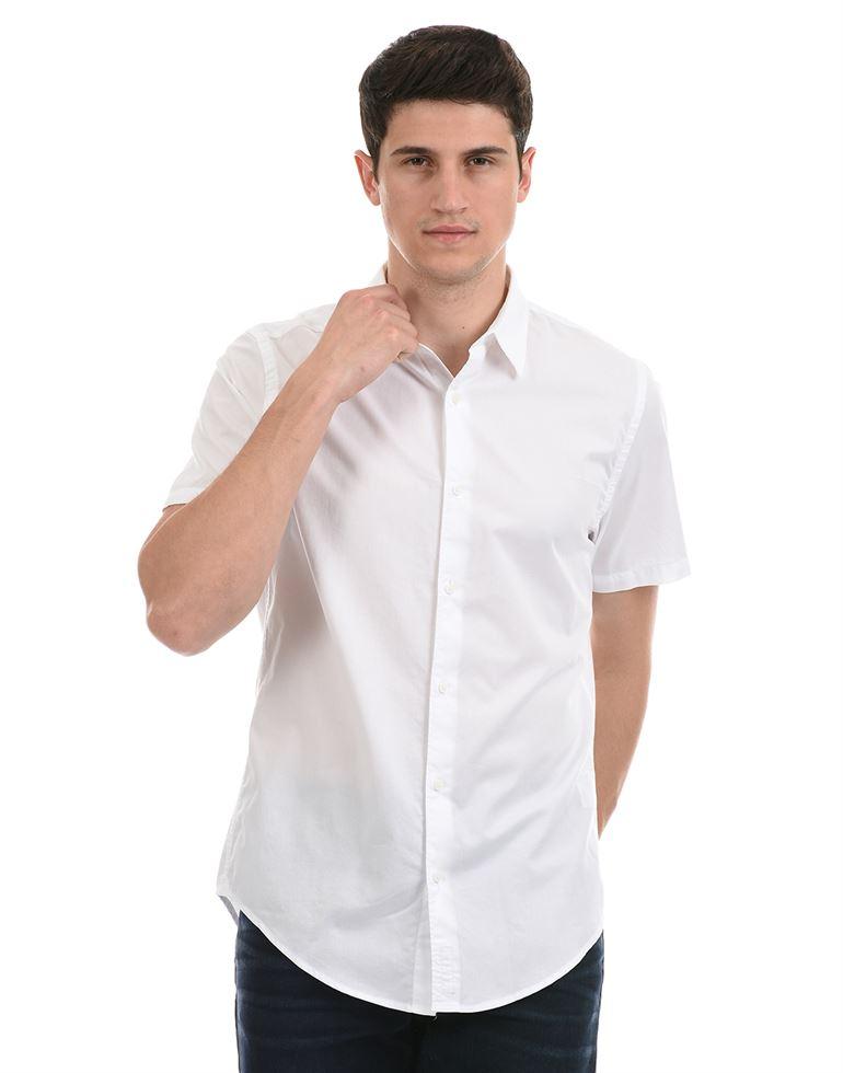 Super Dry Men Casual Wear White Shirt
