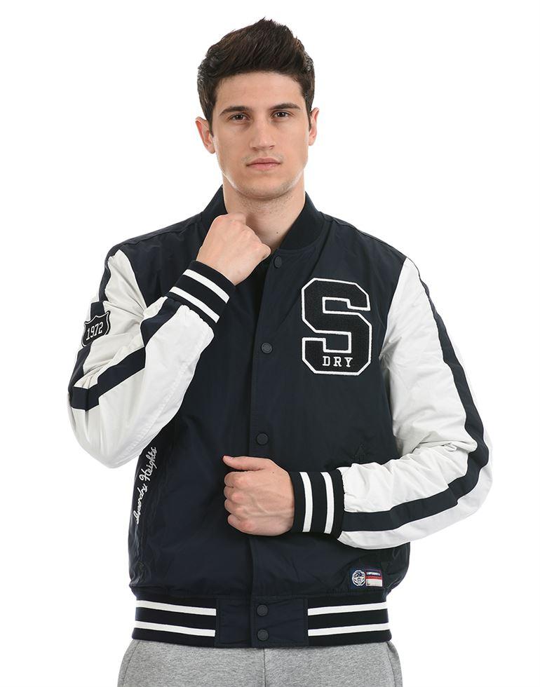 Super Dry Men Casual Wear Black Jacket