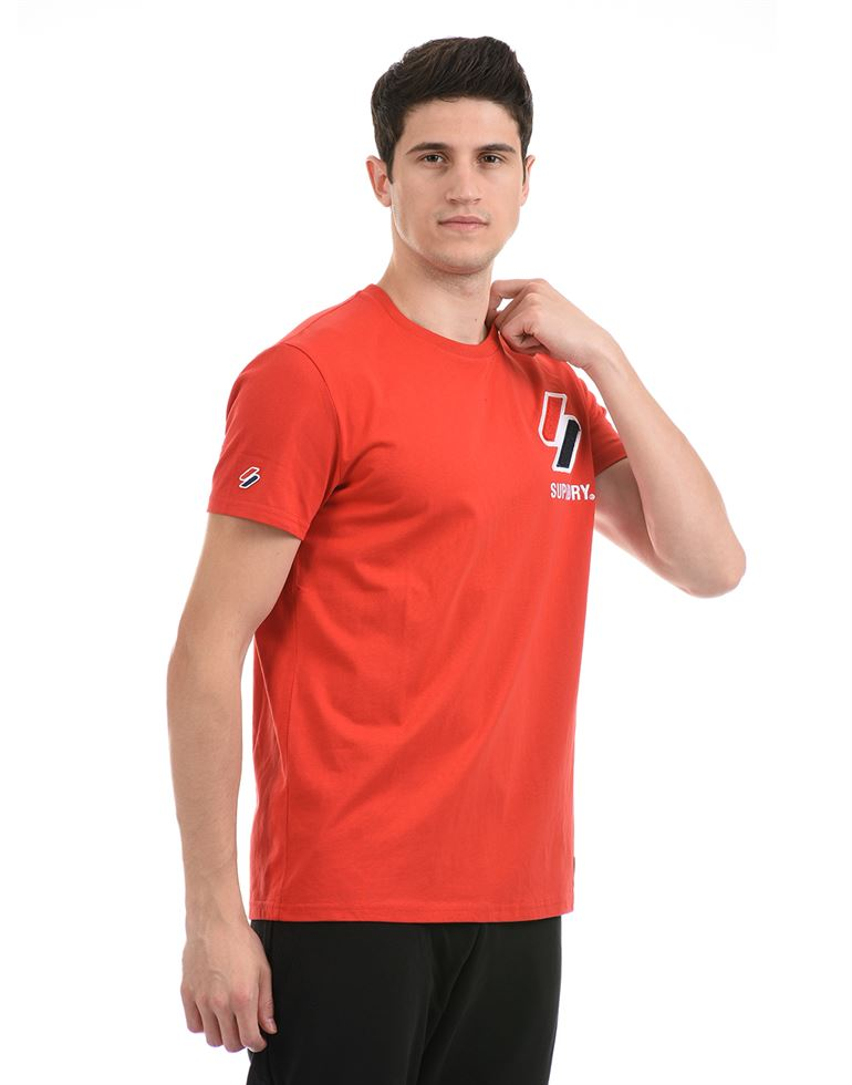 Super Dry Men Casual Wear Red T-Shirt