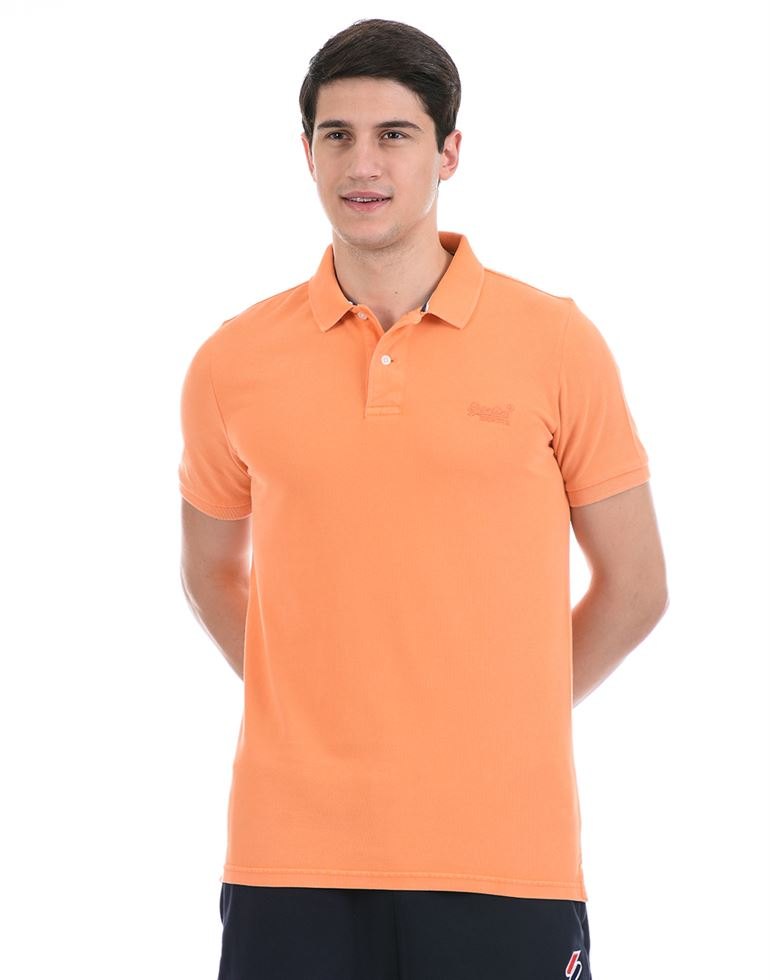 Super Dry Men Casual Wear Orange Polo T-Shirt