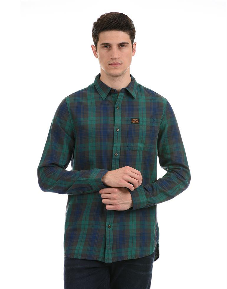 Super Dry Men Casual Wear Multicolor Shirt