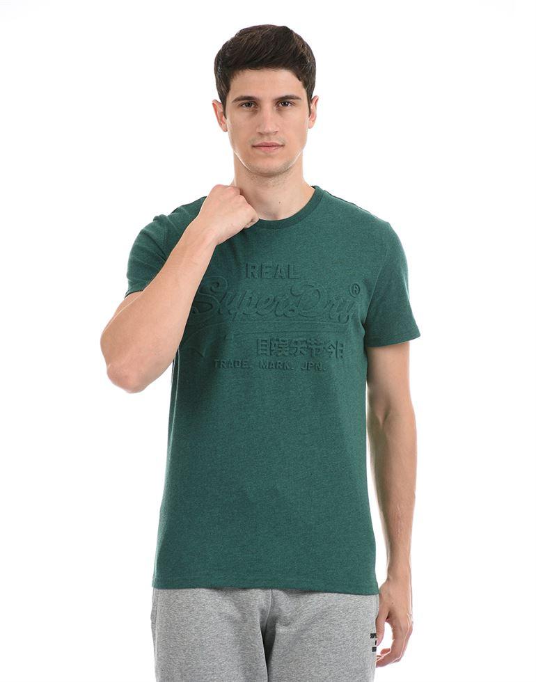 Super Dry Men Casual Wear Green T-Shirt
