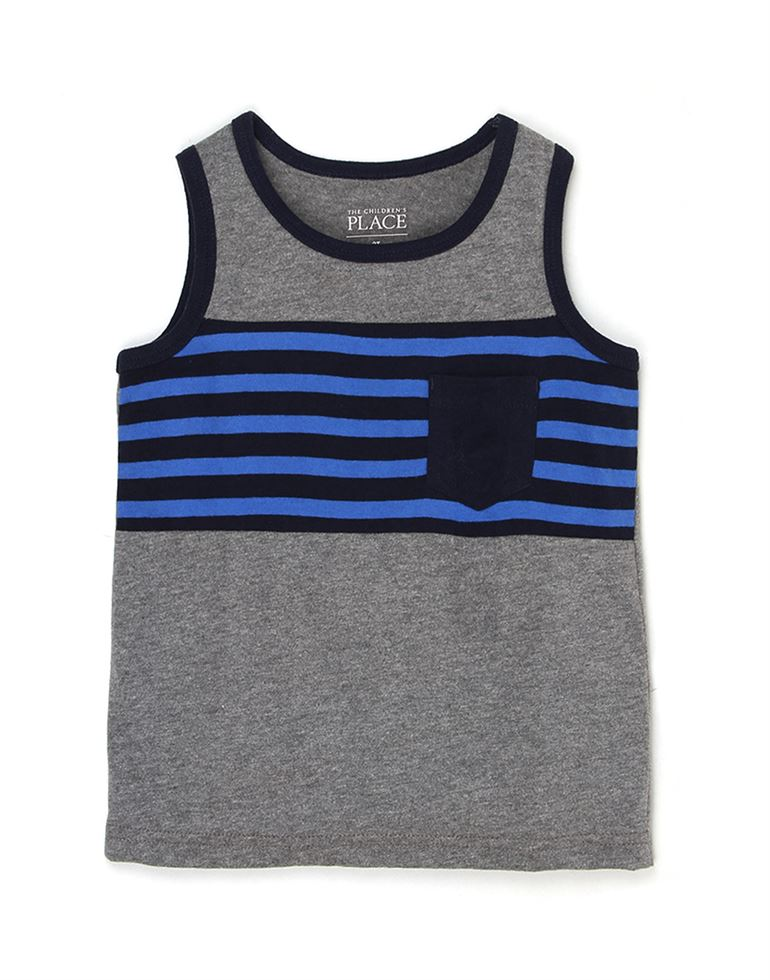 The Children's Place Boys Casual Wear Striped T-Shirt