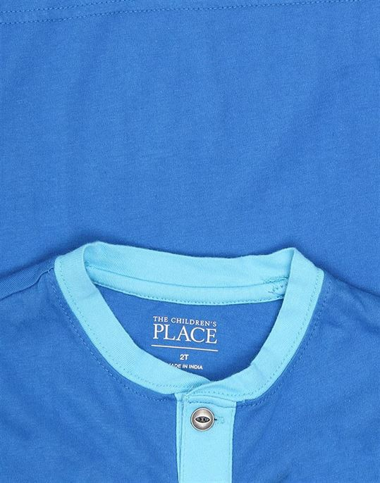 The Children's Place Boys Casual Wear Solid T-Shirt