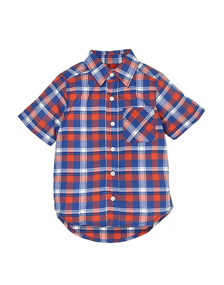 The Children's Place Boys Casual Wear Checkered Shirt
