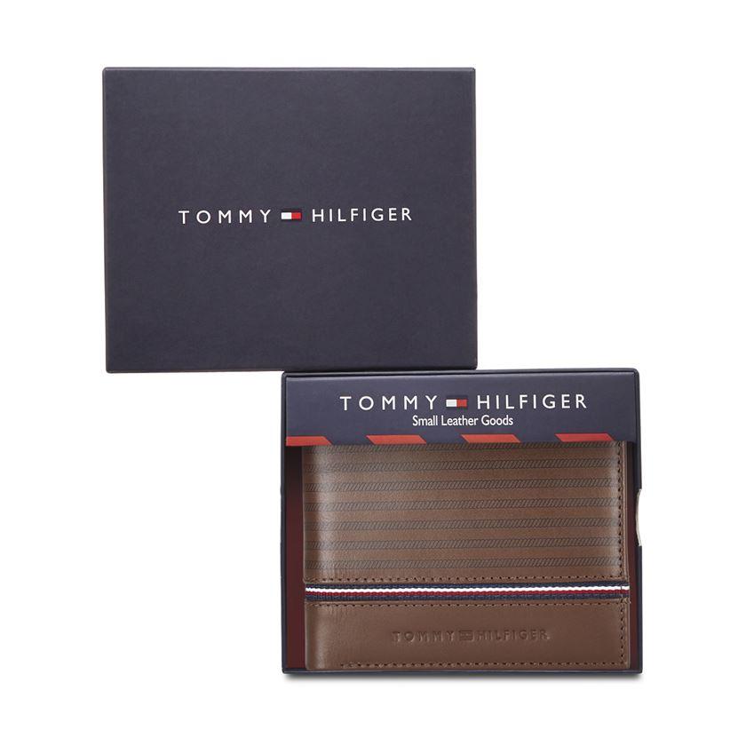 Tommy Hilfiger Leather Men Brown Fold Wallet