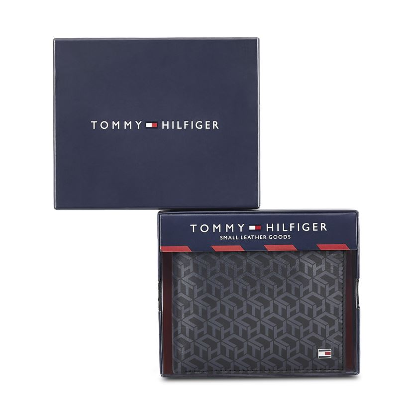Tommy Hilfiger Leather Men Black Fold Wallet