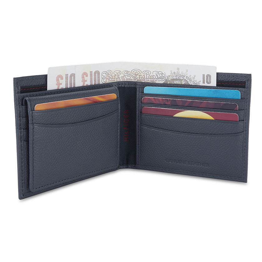 Tommy Hilfiger Leather Men Navy Blue Fold Wallet