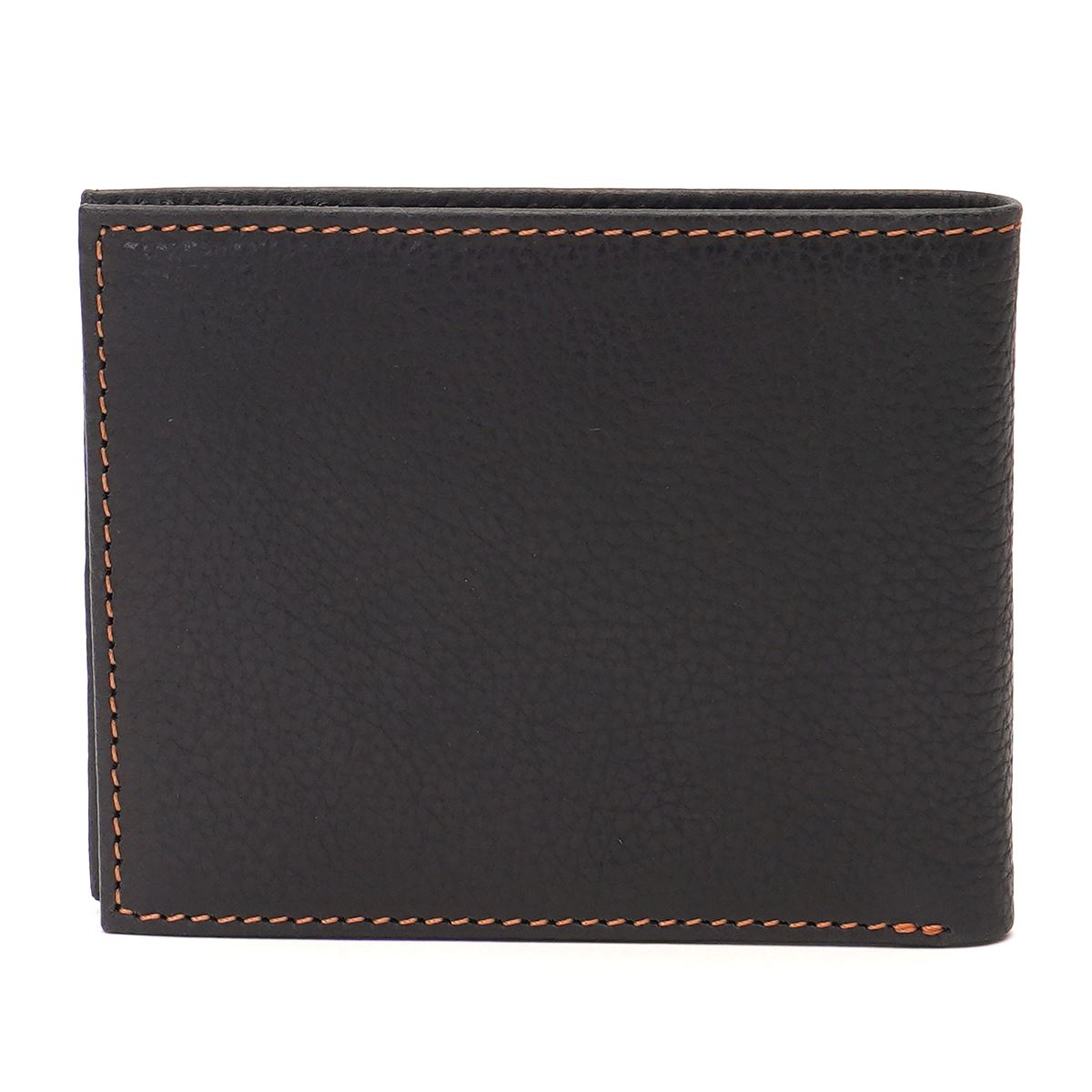 Tommy Hilfiger Leather Mens Solid Black Flynn Slimfold Wallet