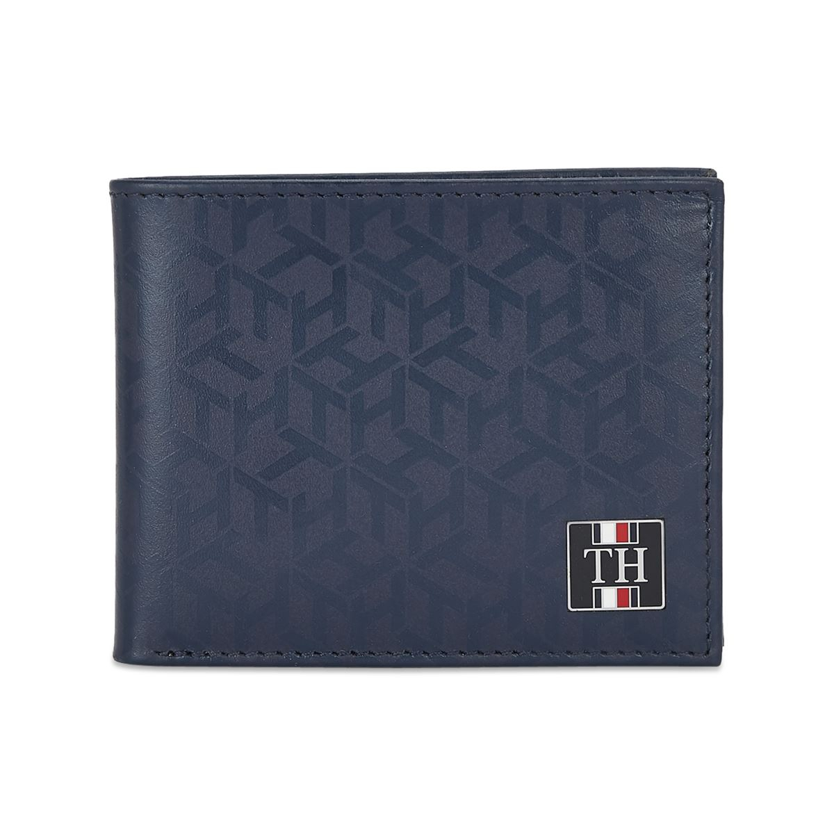 Tommy Hilfiger Leather Mens Printed Navy Franco Global Coin Wallet