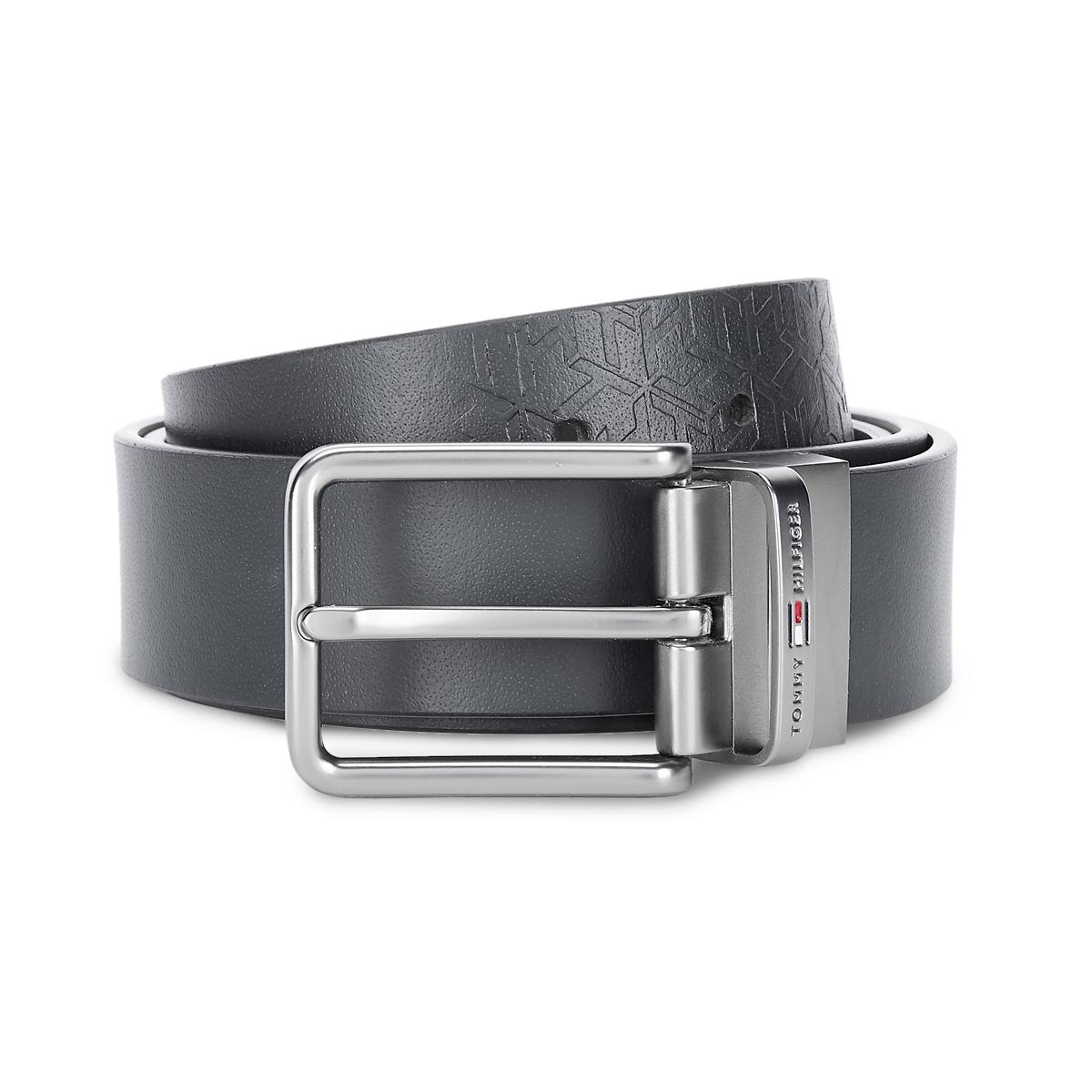 Tommy Hilfiger Leather Mens Solid Navy/Wine Brentwood Reversible Belt