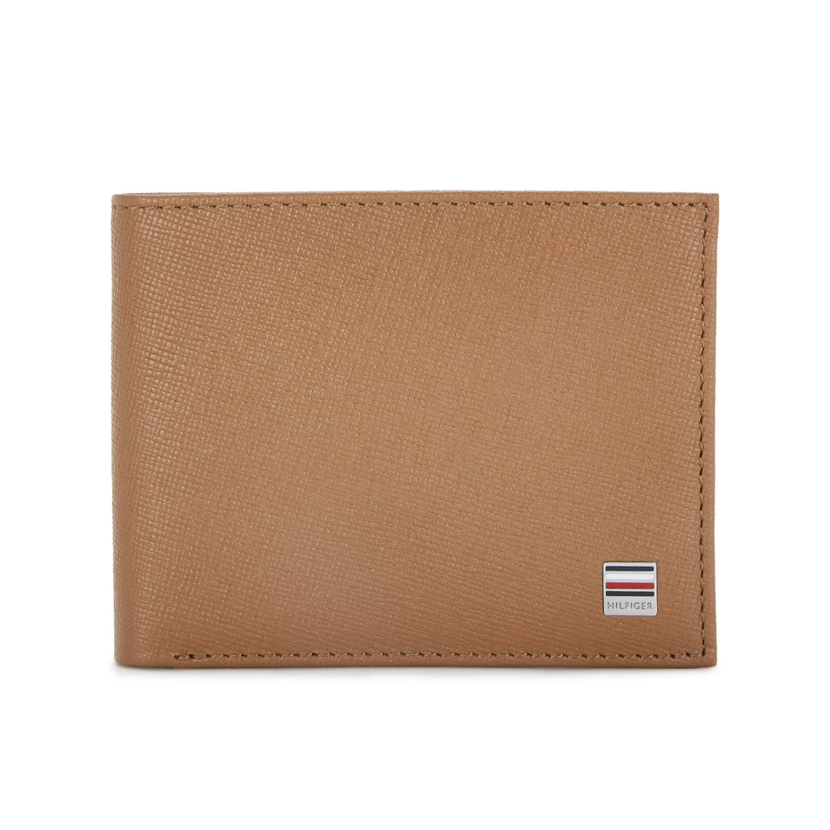 Tommy Hilfiger Leather Mens Textured Tan Orchid Slimfold Wallet