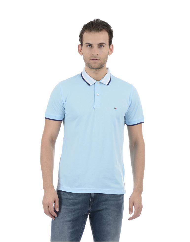 Tommy Hilfiger Men Casual Wear Sky Blue T-Shirt