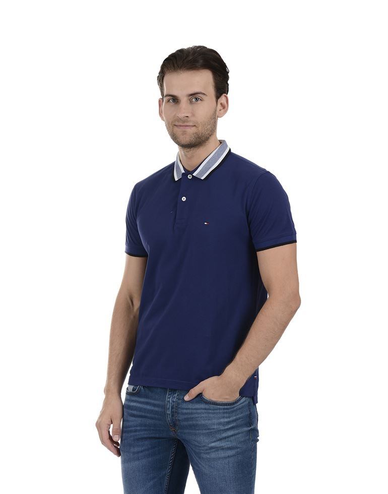 Tommy Hilfiger Men Casual Wear Blue T-Shirt