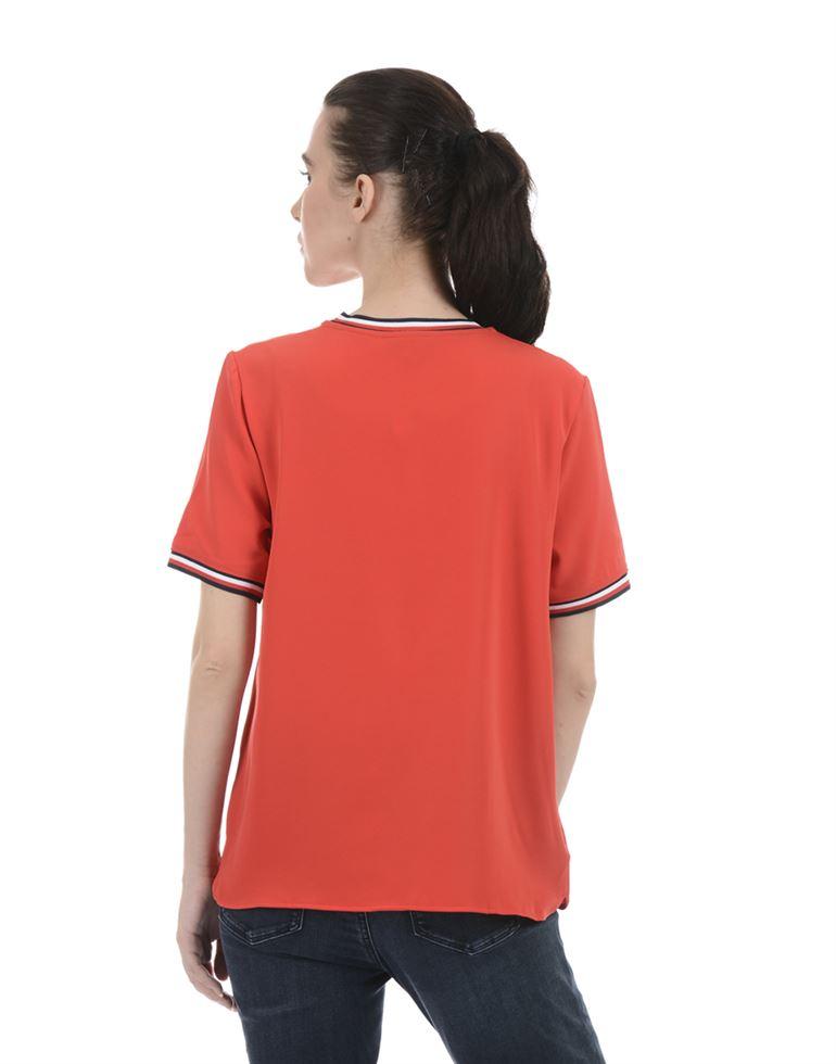 Tommy Hilfiger Women Red Casual Wear Top
