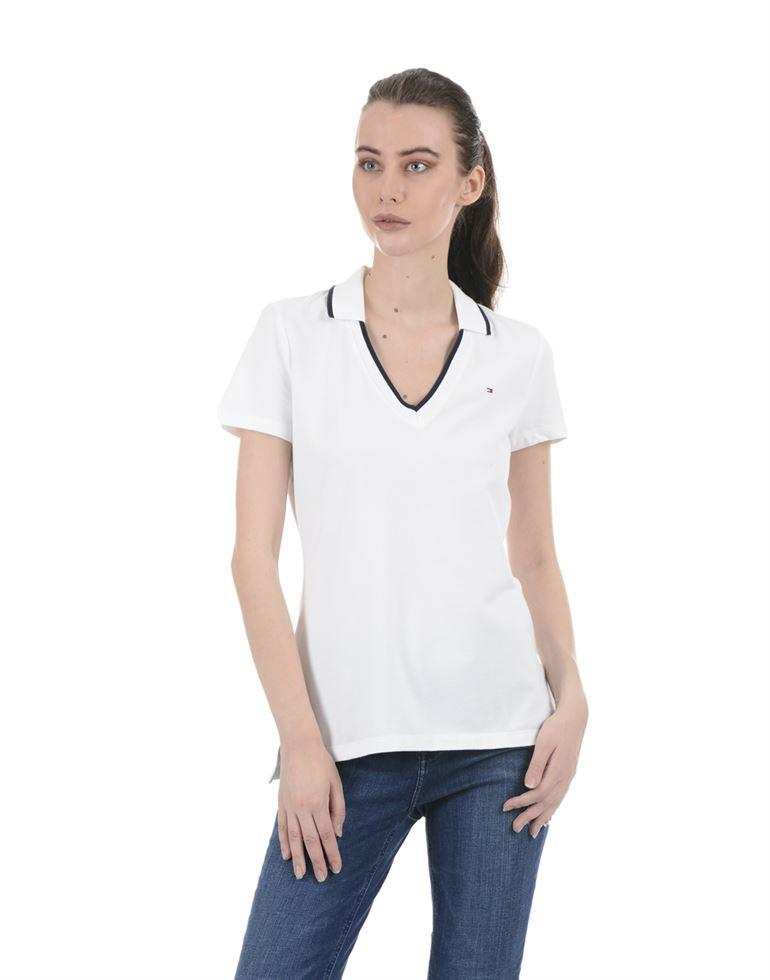 Tommy Hilfiger Women Casual Wear White Top