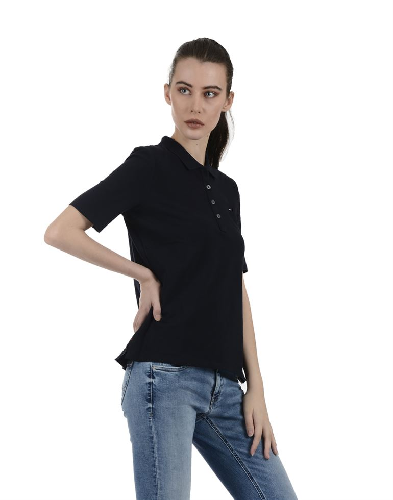 Tommy Hilfiger Women Casual Wear Dark Blue T-Shirt