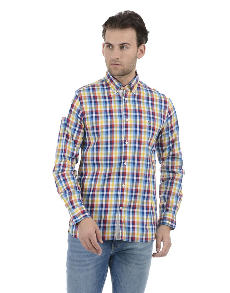 Tommy Hilfiger Men Casual Wear Multicolor Shirt