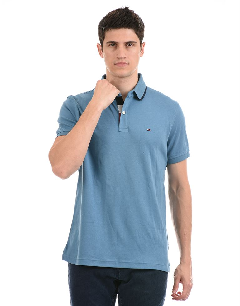Tommy Hilfiger Men Casual Wear Blue T-Shirt