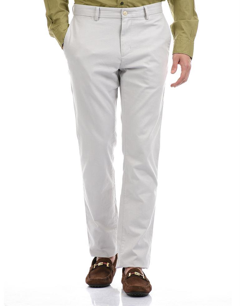 Tommy Hilfiger Men Casual Wear Light Grey Trouser
