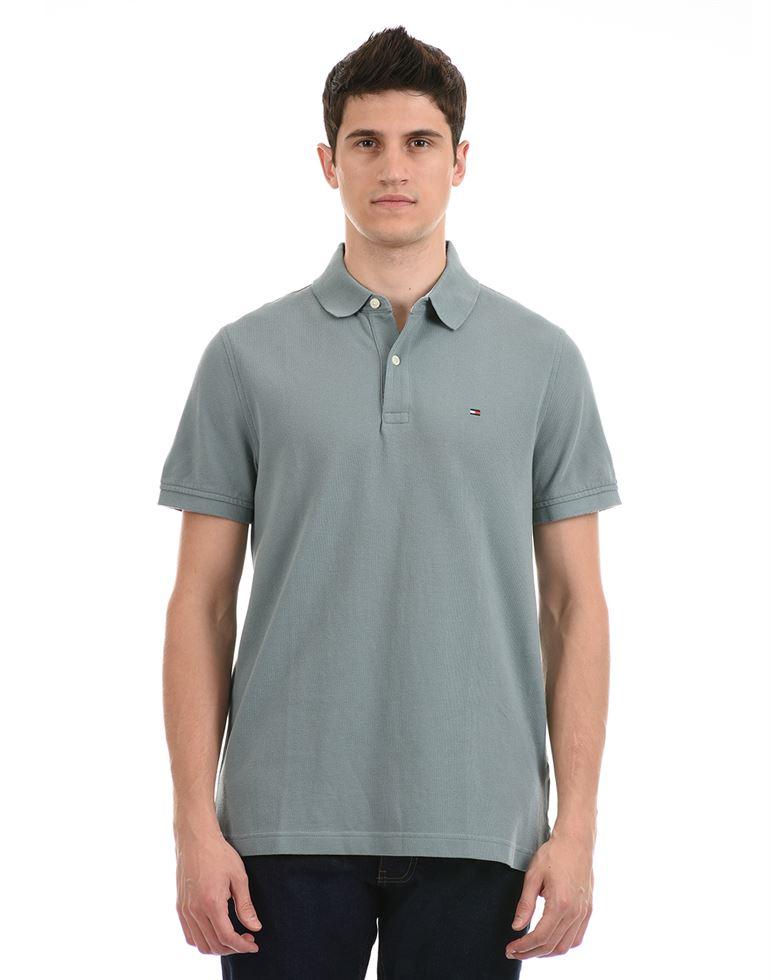 Tommy Hilfiger Men Casual Wear Green T-Shirt