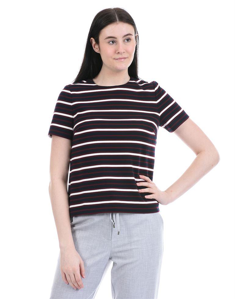Tommy Hilfiger Women Casual Wear Navy Blue T-Shirt