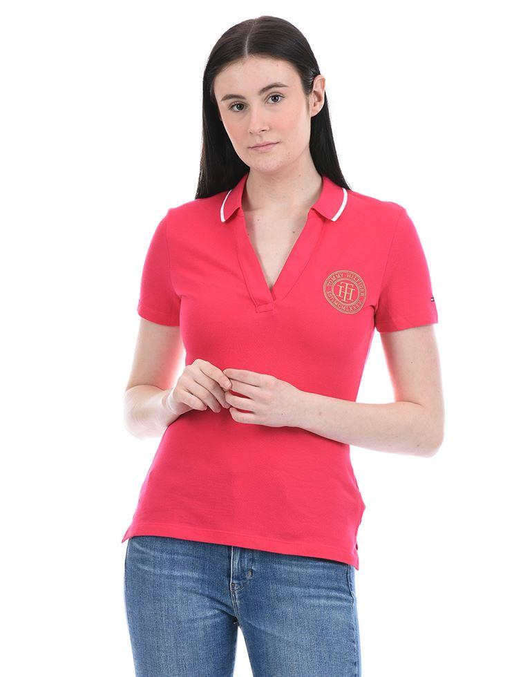 Tommy Hilfiger Women Casual Wear Pink T-Shirt