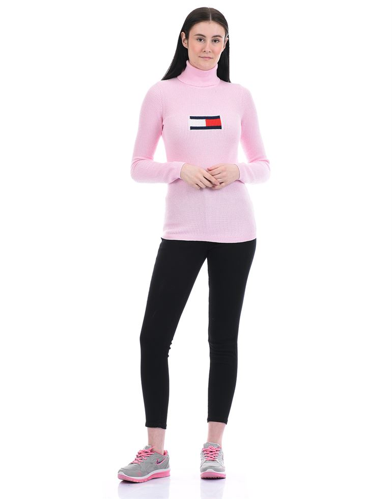 Tommy Hilfiger Women Casual Wear Pink Sweater