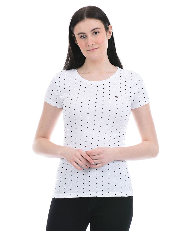 Tommy Hilfiger Women Casual Wear White T-Shirt