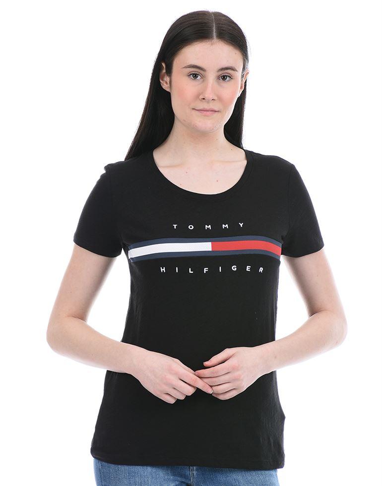 Tommy Hilfiger Women Casual Wear Black T-Shirt