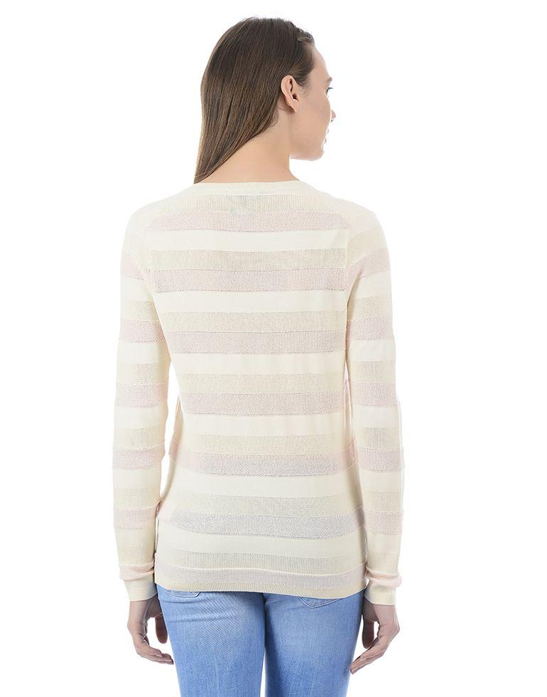 Tommy Hilfiger Women Casual Wear Striped Sweater