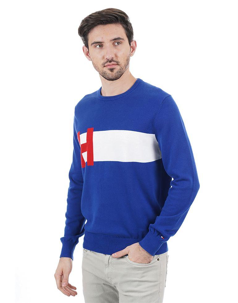 Tommy Hilfiger Men Casual Wear Solid Sweater