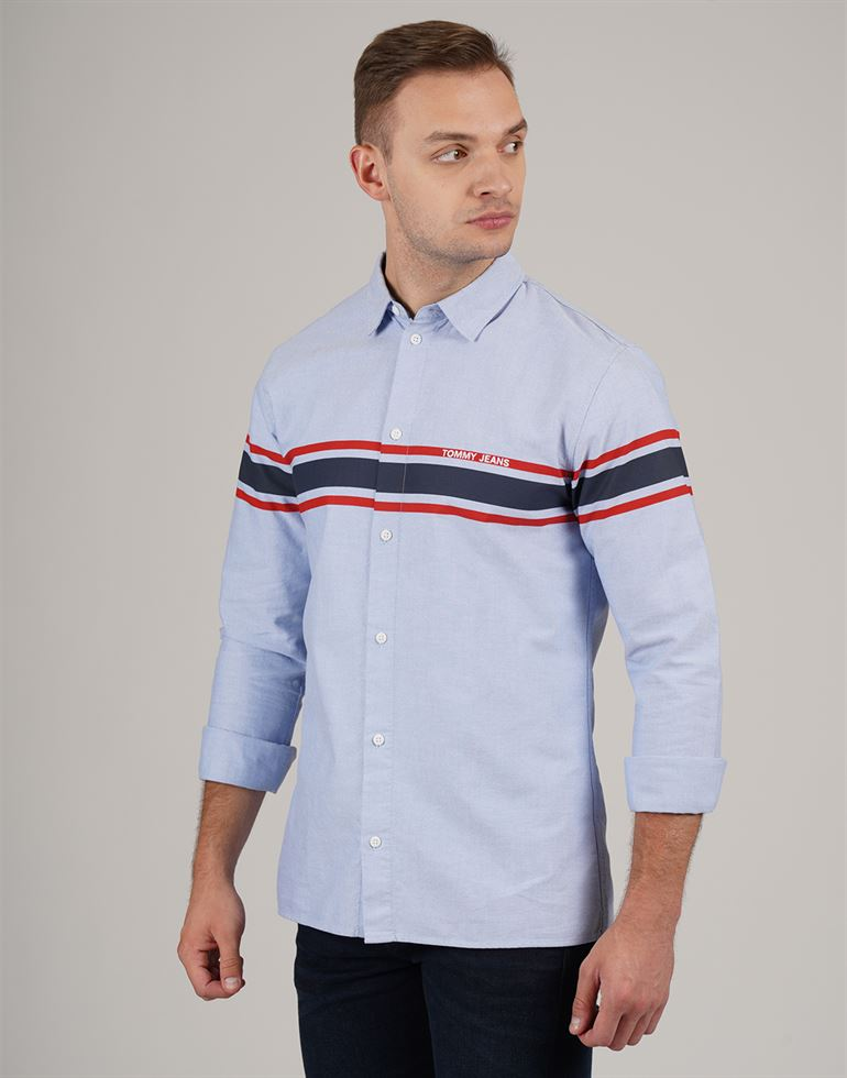 Tommy Hilfiger Men Casual Wear Solid Shirt