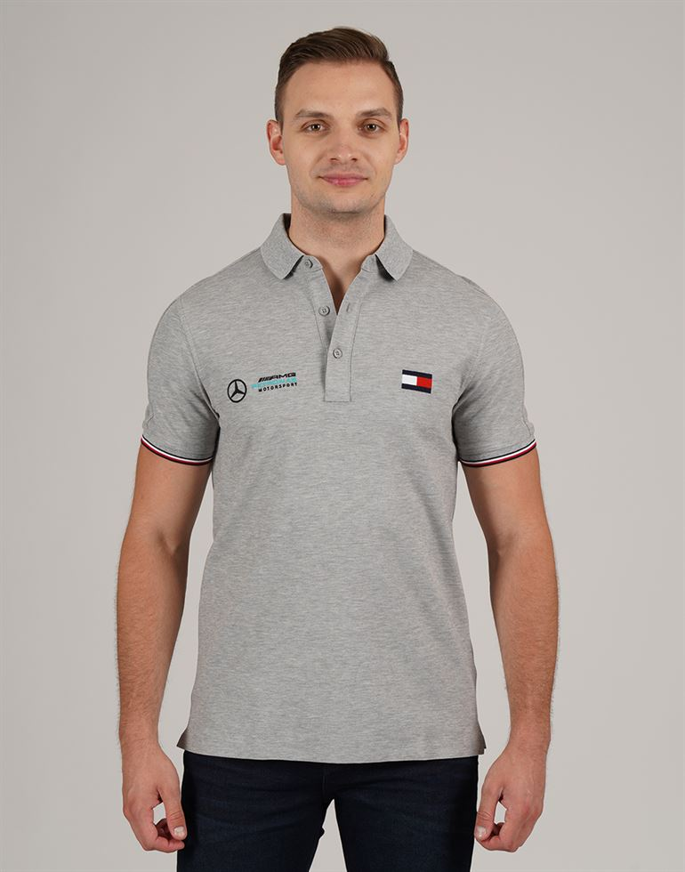 Tommy Hilfiger Men Casual Wear Solid Polo T-Shirt
