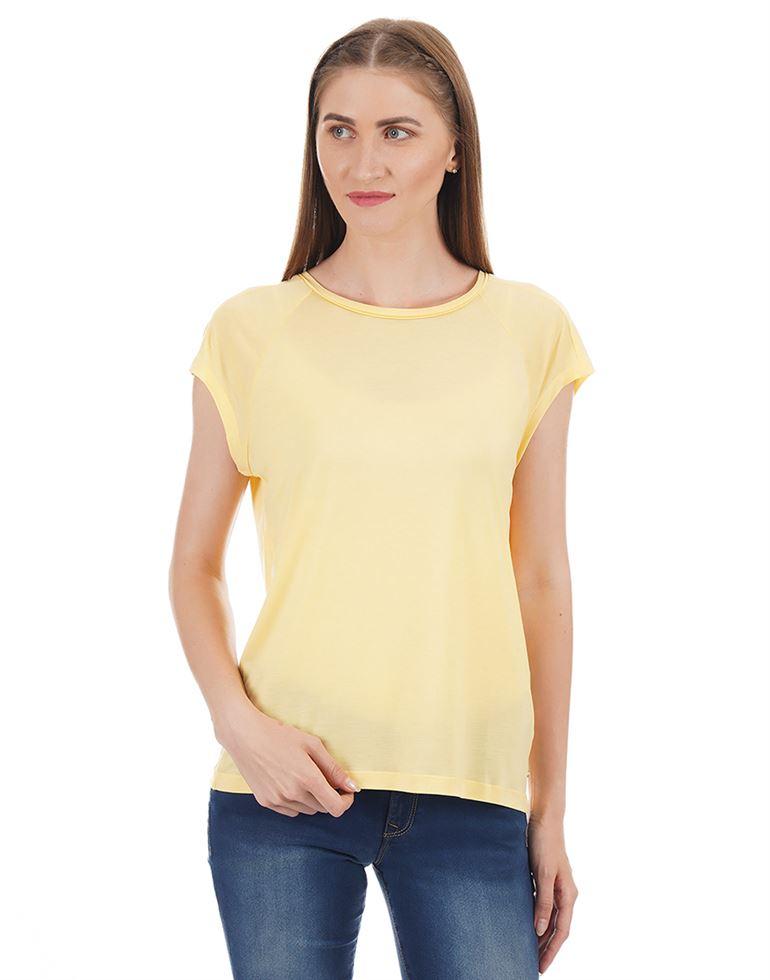 Tommy Hilfiger Women Solid Casual Wear T-shirt