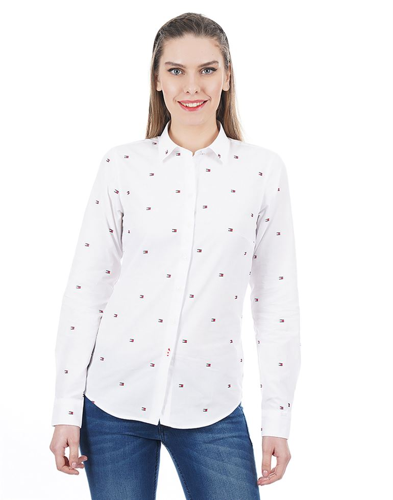 Tommy Hilfiger Women Casual Wear Embroidered Top