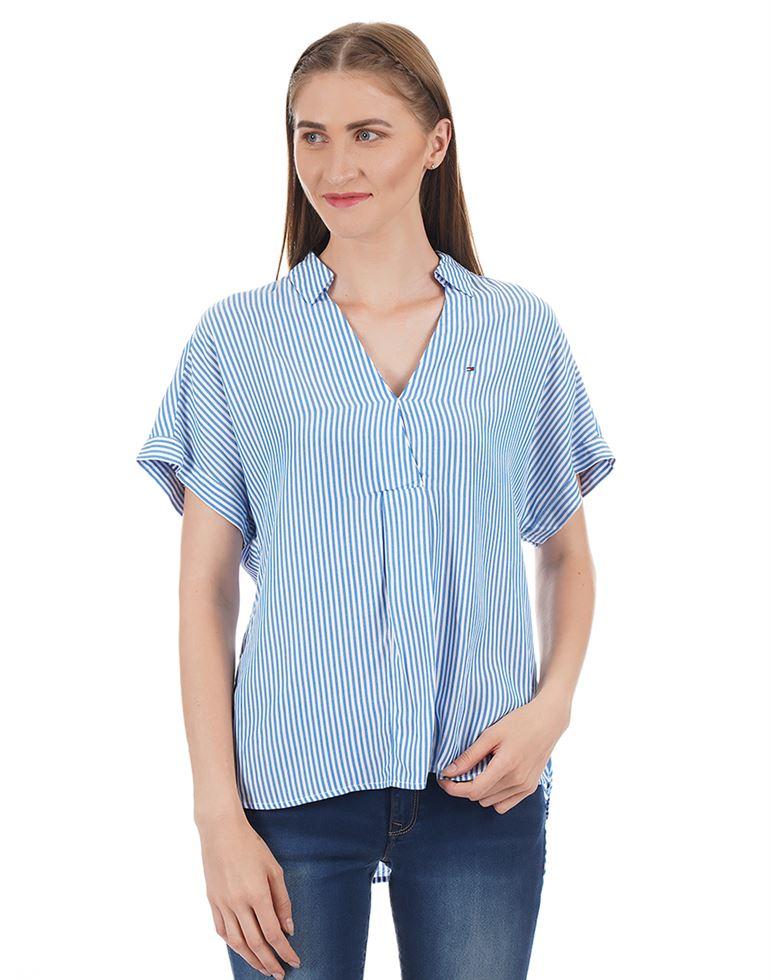 Tommy Hilfiger Women Striped Casual Wear Top