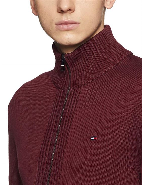Tommy Hilfiger Men Casual Wear Solid Sweater