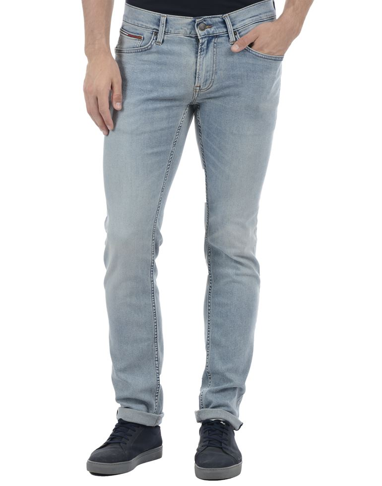 Tommy Hilfiger Men Casual Wear Sky Blue Jeans