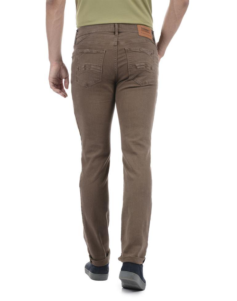 Tommy Hilfiger Men Casual Wear Brown Jeans